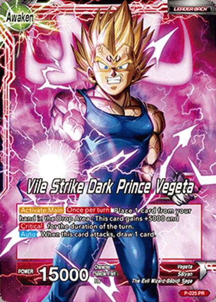 P-025 Vegeta/Vile Strike Dark Prince Vegeta