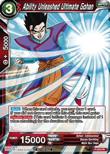 P-020 Ability Unleashed Ultimate Gohan