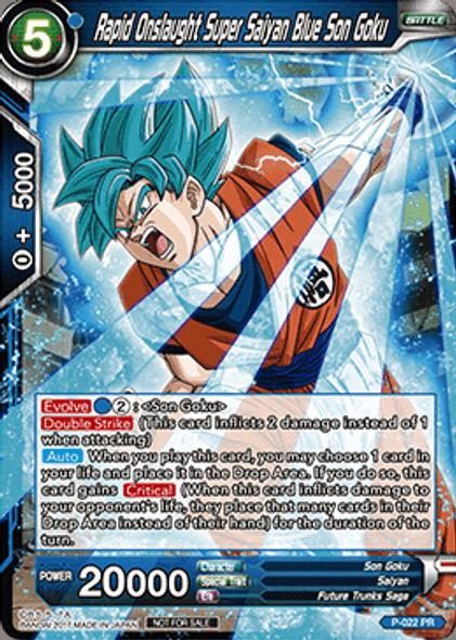 P-022 Rapid Onslaught Super Saiyan Blue Son Goku