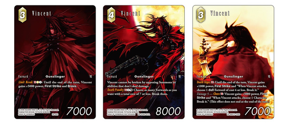 Final Fantasy TCG Limited Edition Vincent Red Triple Deck Case