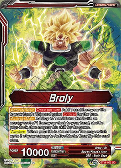 BT11-002 Broly / Broly, the Awakened Demon