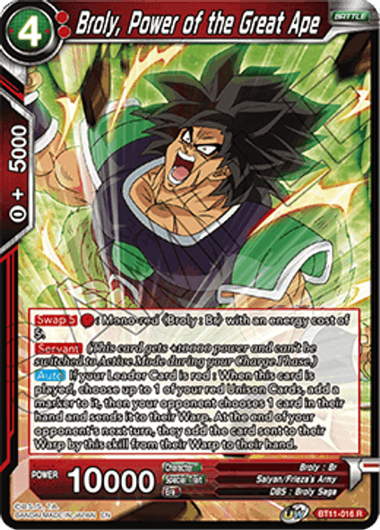 BT11-016 Broly, Power of the Great Ape