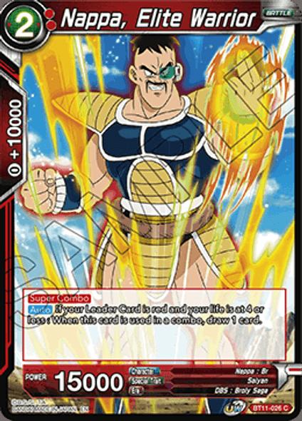 BT11-026 Nappa, Elite Warrior