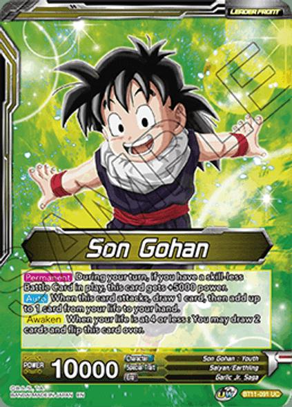 BT11-091 Son Gohan / Son Gohan & Hire-Dragon, Boundless Friendship