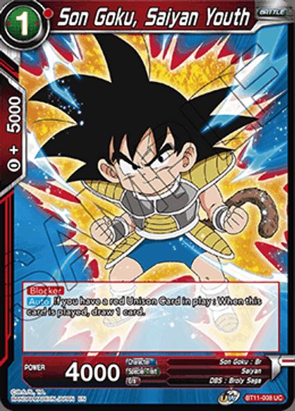 BT11-008 Son Goku, Saiyan Youth - Foil