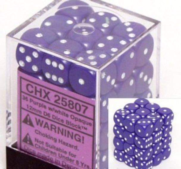 CHX 25807 Opaque 12mm d6 Purple/white (36)