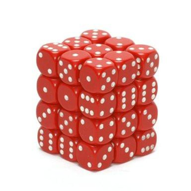 CHX 25804 Opaque 12mm d6 Red/White (36)