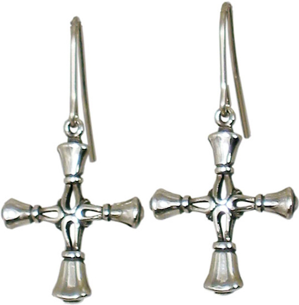 Handbell Cross Earrings - Med/SS