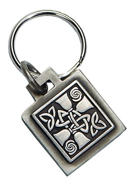 Keyring w/ Celtic Design - Pewter