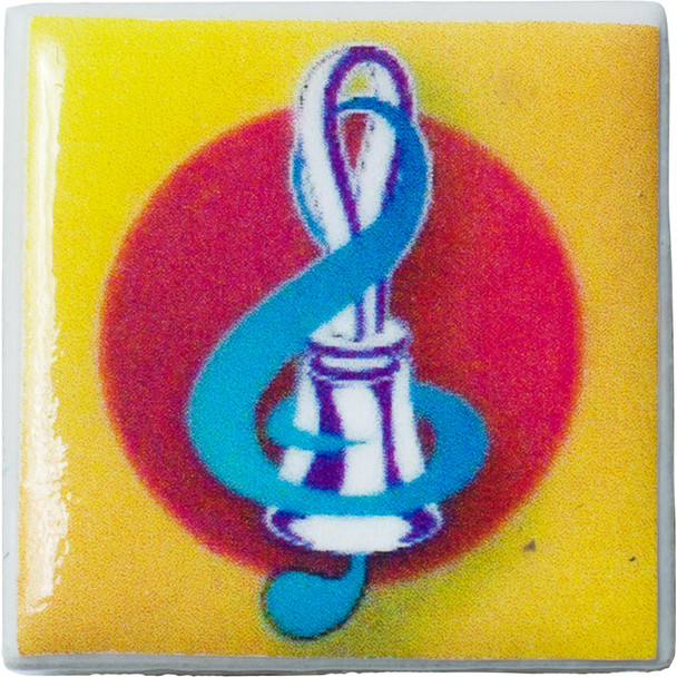 "Tiny Tile Magnet - ""Bell & Treble Clef"""