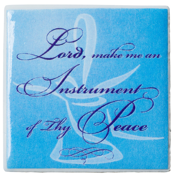"Tiny Tile Magnet - ""Lord, Make Me An Instrument"""