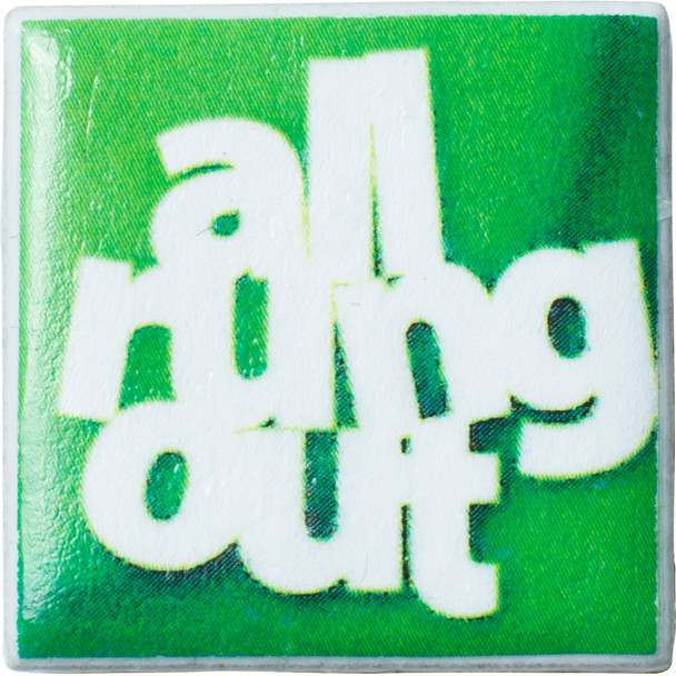 "Tiny Tile Magnet - ""All Rung Out"""