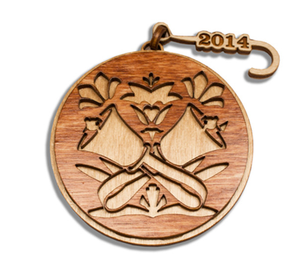 Ornament has the current year (2017) on the hook