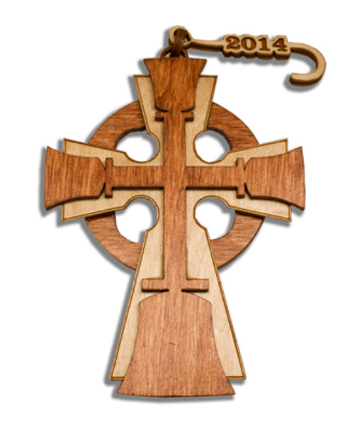 "Wooden Ornament - ""Celtic Bell Cross""  2021"