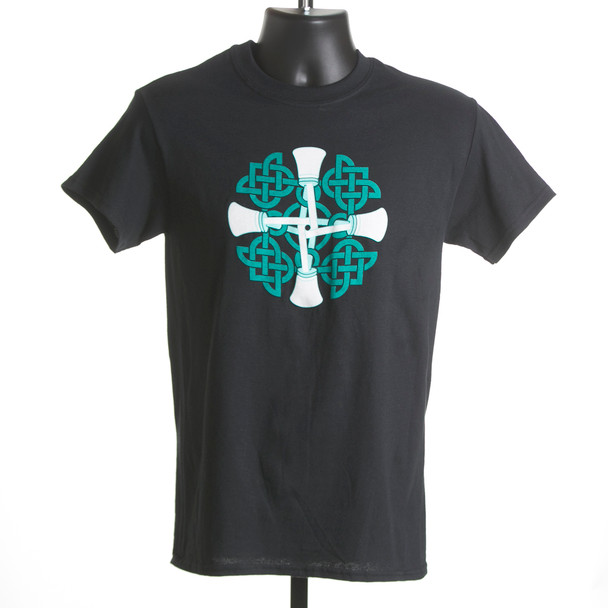 "T-shirt ""Circle of Bells"" (black and sports gray)"