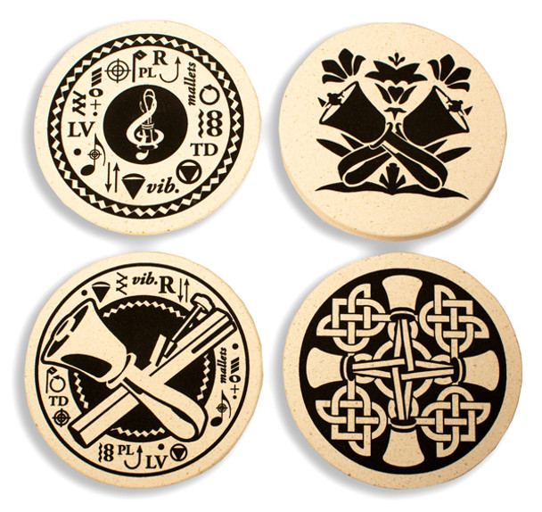 Beverage Coasters (set of 4/black)