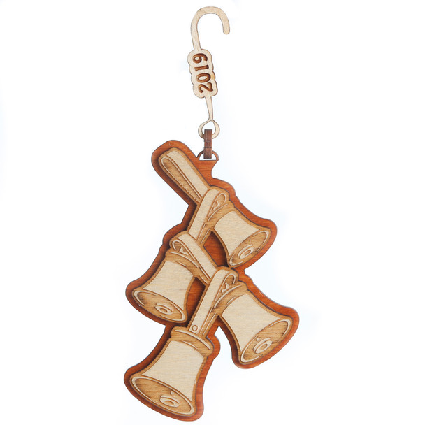 """Wooden Ornament - """"Bell Tree""""  2021"""