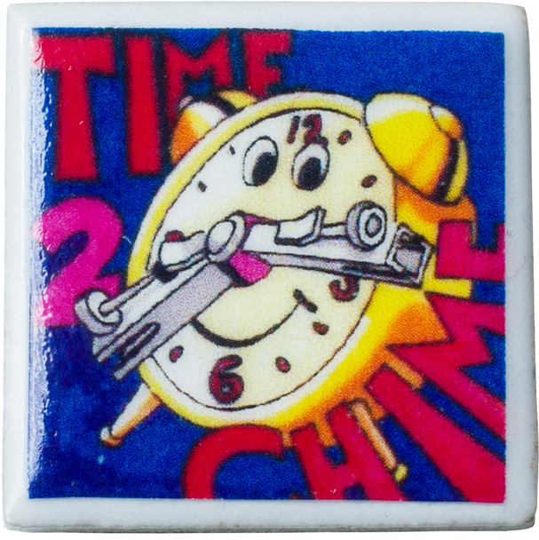 "Tiny Tile Magnet - ""Time To Chime"""