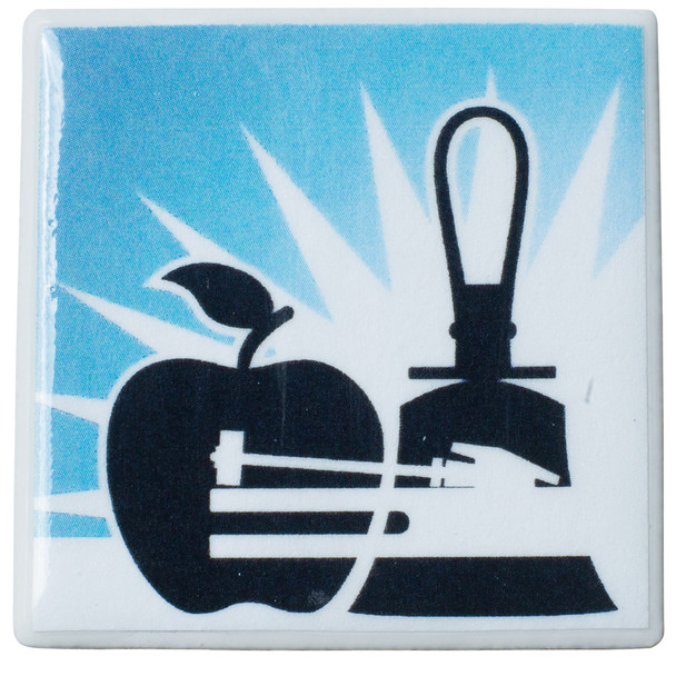 "Tiny Tile Magnet - ""Learn to Ring"""