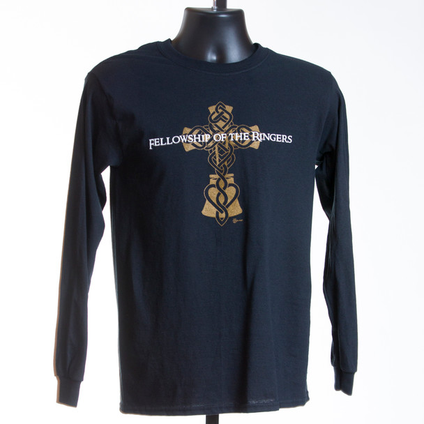 "T-shirt ""Fellowship of the Ringers"" (black) LONG SLEEVE"