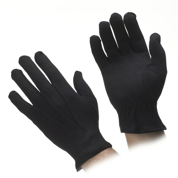 Cotton Performance Gloves - Black