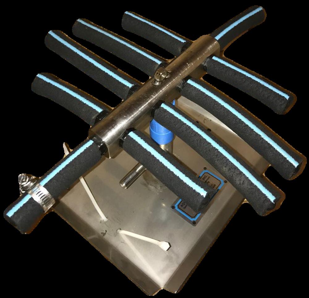 AquaBio Ten Shot Diffuser (Stainless Steel)