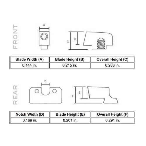 Trijicon HD Night Sights - Glock 42/43