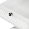Hamptons Shutter Side Table White