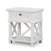 Hamptons Shutter Bedside Table White by Maison Living