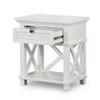 Hamptons Shutter Bedside Table White