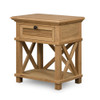 Hamptons Shutter Bedside Table Natural by Maison Living
