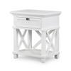 Hamptons Shutter Bedside Table White Grain by Maison Living