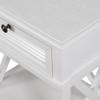 Hamptons Shutter Bedside Table White Grain