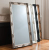 "Abbey Leaner Mirror Silver 65x31"" Gallery Direct"