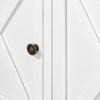 Hamptons Cross 4 Door Buffet Sideboard - White