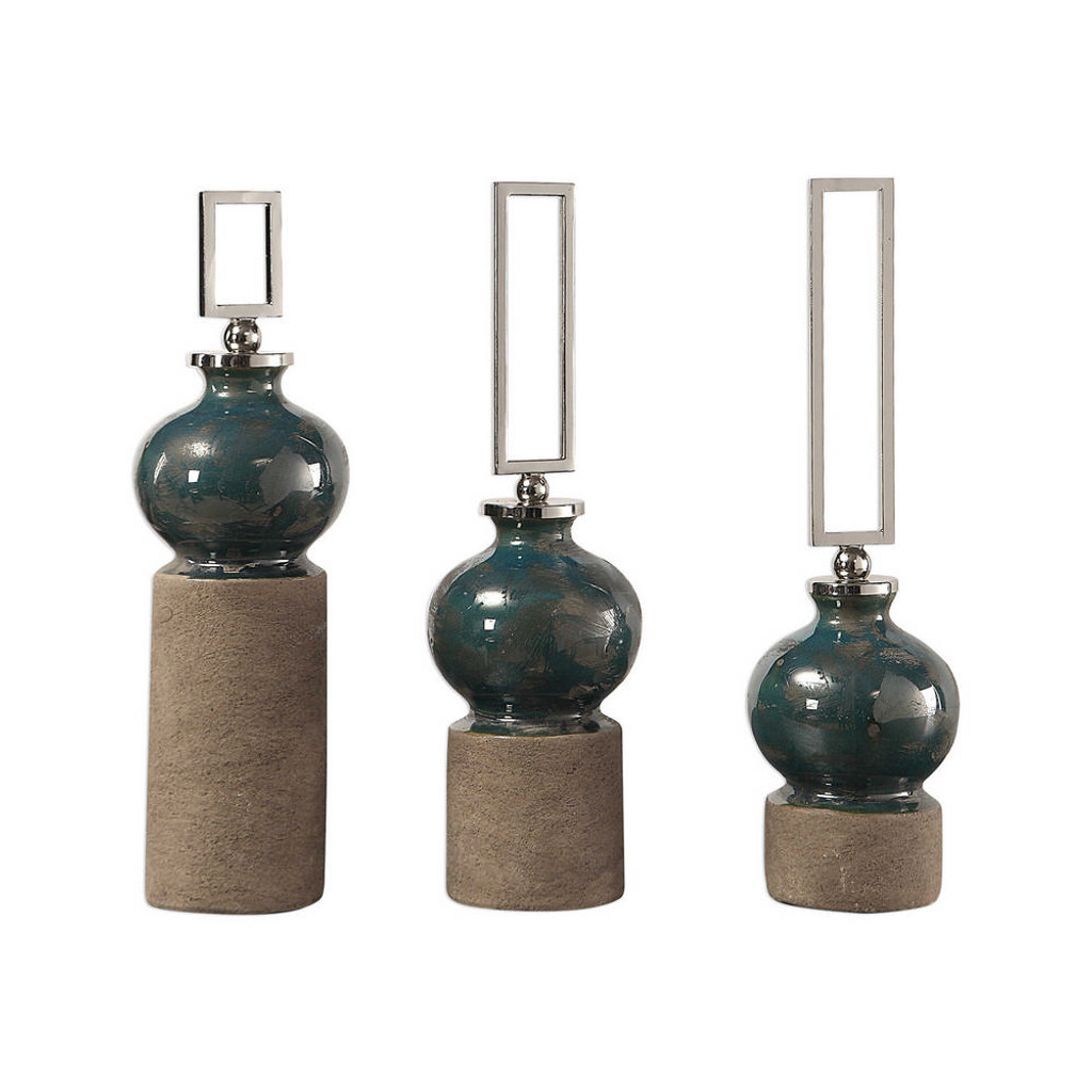 Francis Bottles S/3 by Uttermost