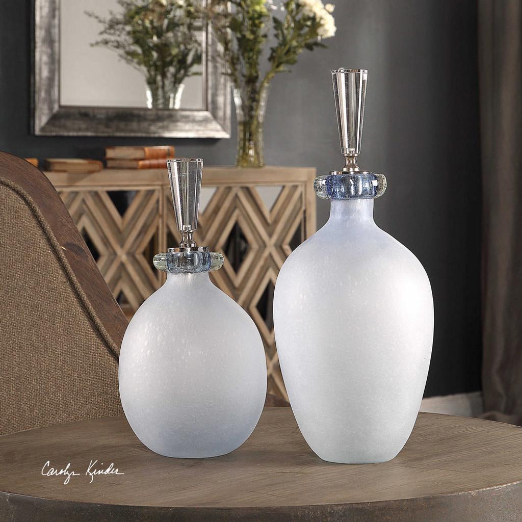 Leah Bottles S/2 by Uttermost