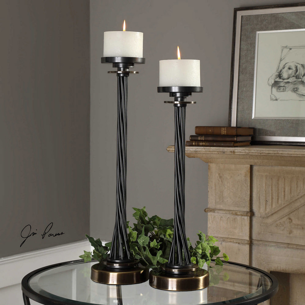 Kendra Candleholders S/2 by Uttermost