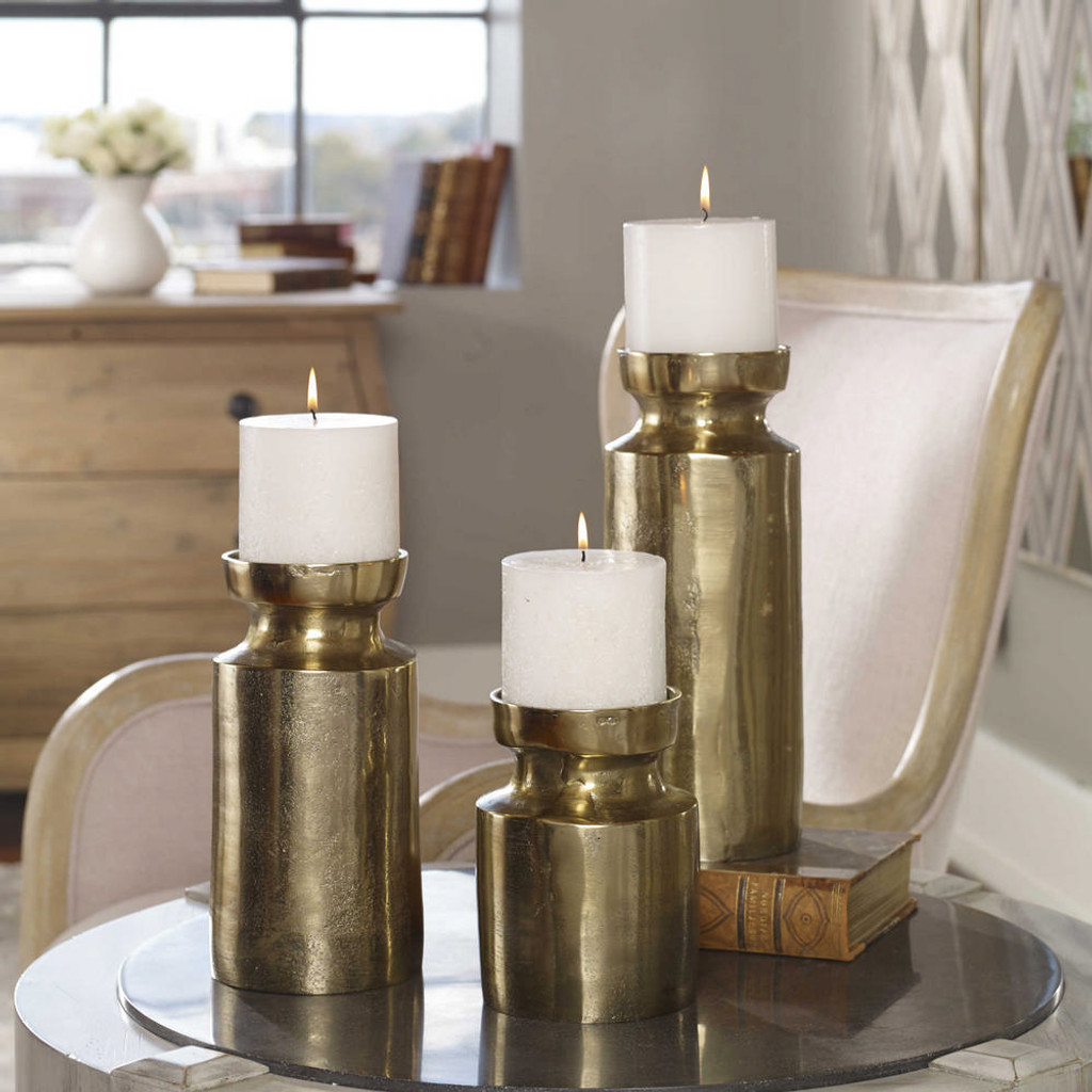 Amina Candleholders S/3 by Uttermost