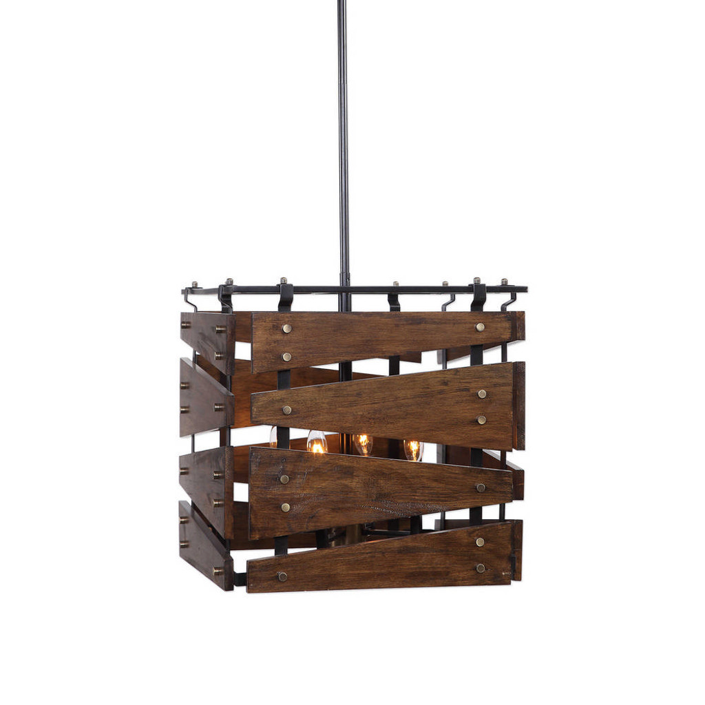 Augie 4 Light Industrial Pendant by Uttermost