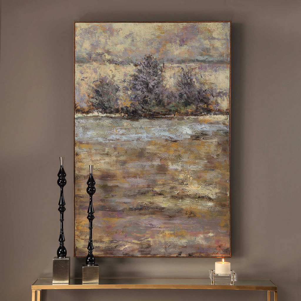 Lavender Trees Hand Painted Canvas by Uttermost