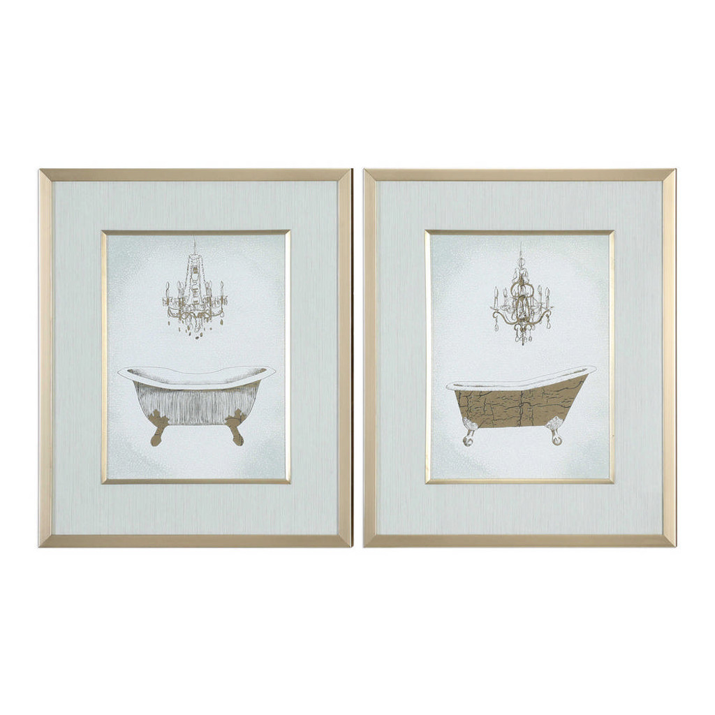 Gilded Bath Framed Prints S/2 by Uttermost