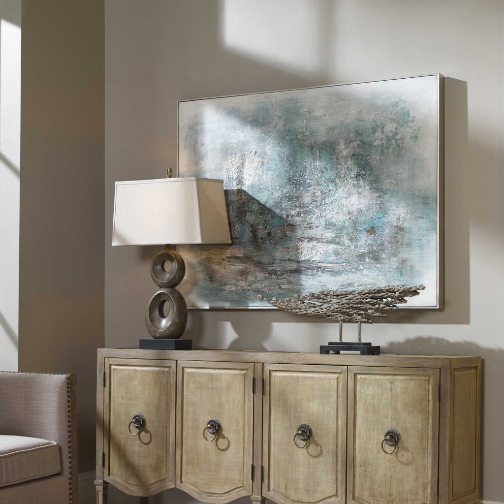 Ice Storm Hand Painted Canvas by Uttermost