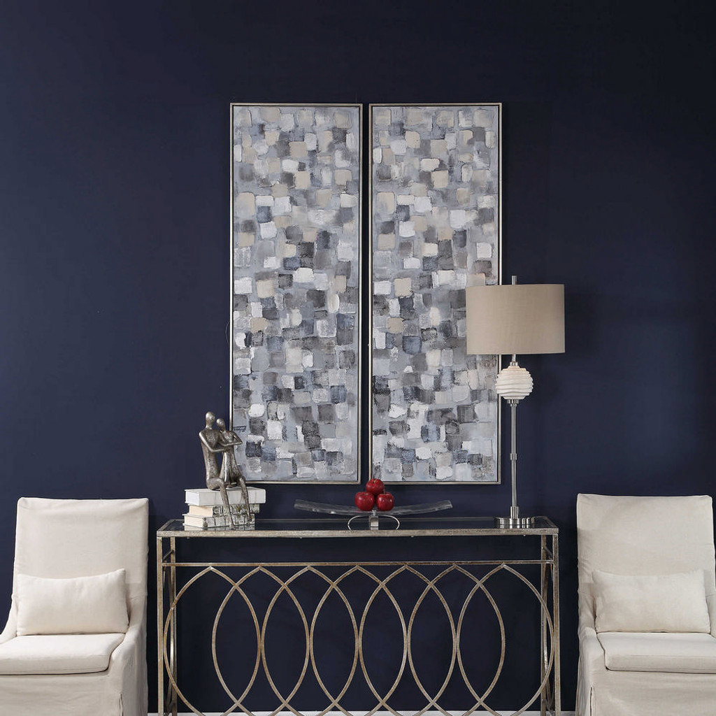 Cubist Hand Painted Canvases S/2 by Uttermost