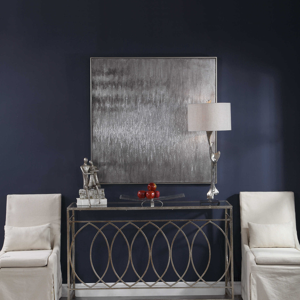 Icy Hand Painted Canvas by Uttermost