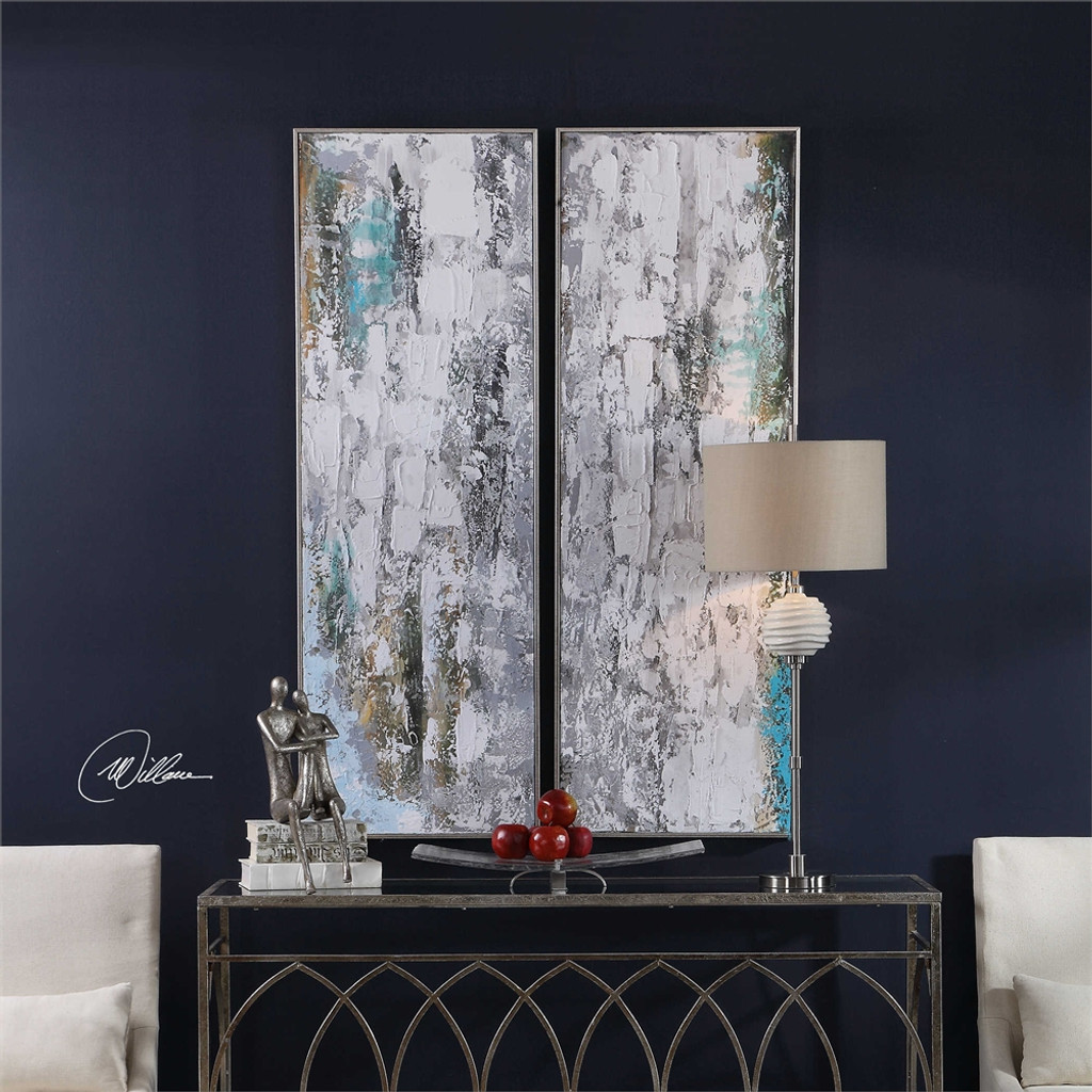 Aged Fences Hand Painted Canvases S/2 - by Uttermost