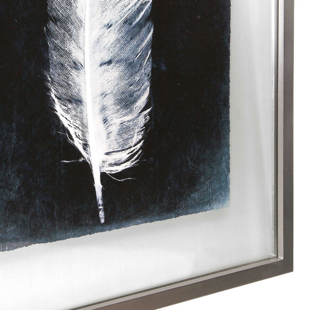 Inverted Feathers Framed Prints S/3