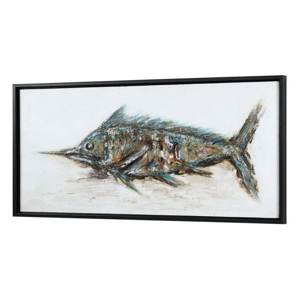 Blue Marlin Hand Painted Canvas