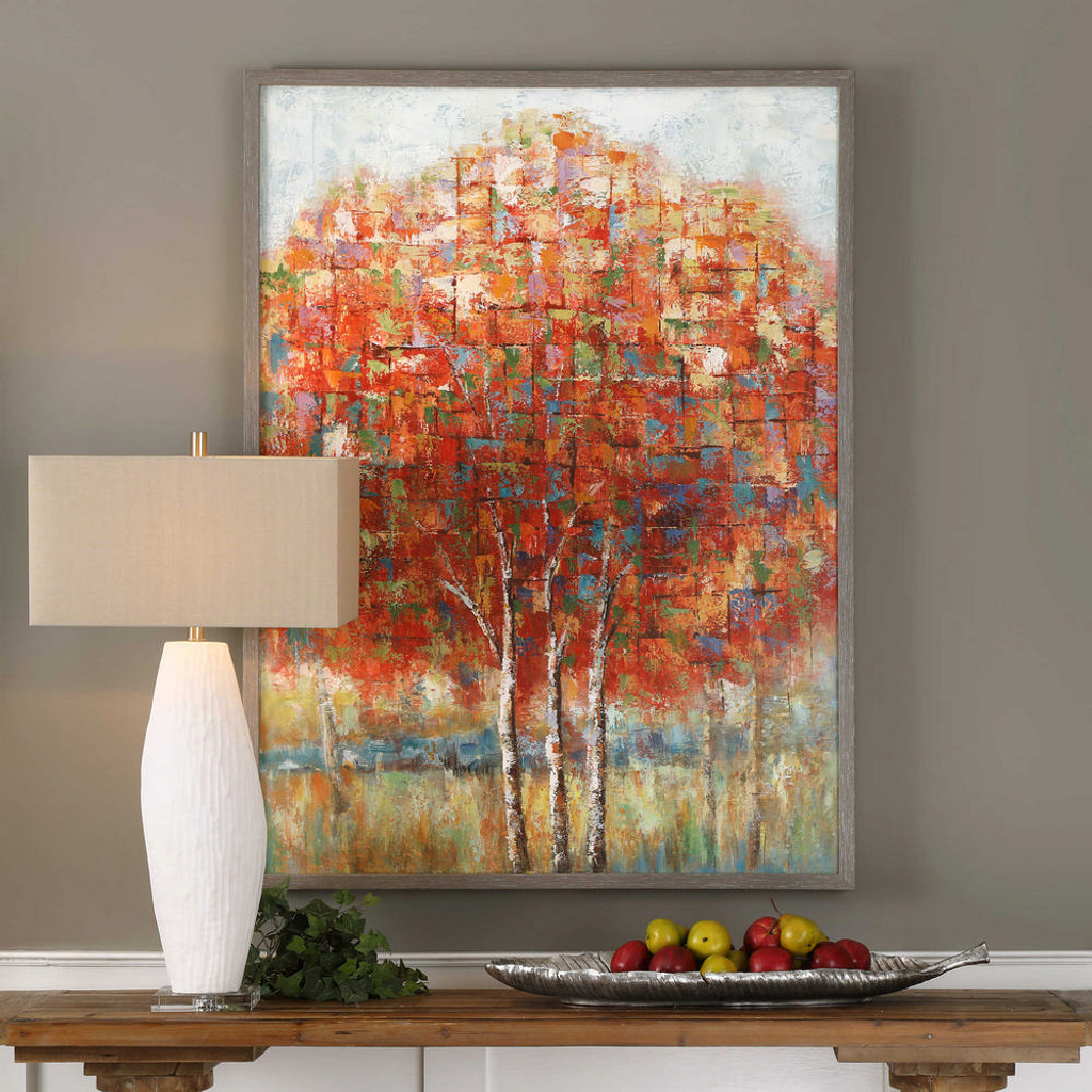 Autumn View Hand Painted Canvas by Uttermost