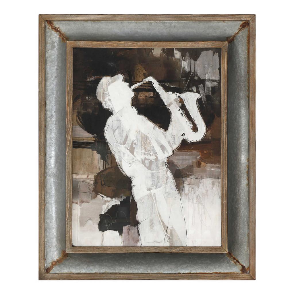 Jazz Sax Framed Print by Uttermost
